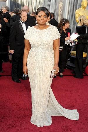 Oscars red carpet: Octavia Spencer, Best Actress nominee, in Tadashi Shoji
