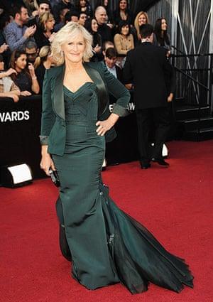 Oscars red carpet: Glenn Close, Best Actress nominee in Zac Posen