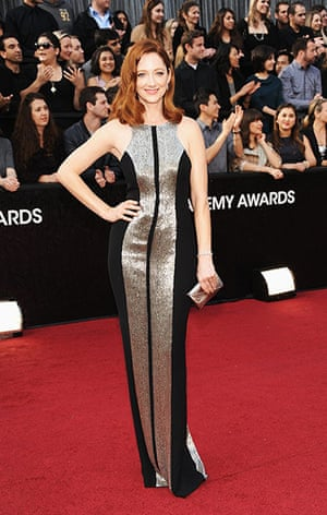 Oscars red carpet: Judy Greer in Monique Lhullier
