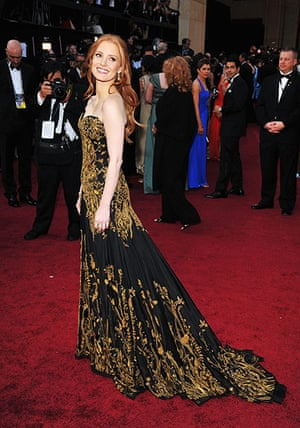 Oscars dresses: Jessica Chastain