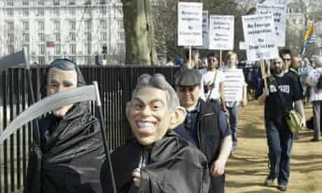 An anti-war march in 2005 in London