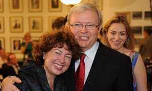 Kevin Rudd, wife Terese, and daughter Jessica