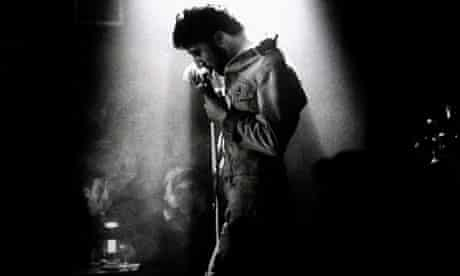 Dustin Hoffman in Lenny. Bruce Surtees was Oscar-nominated for his black-and-white cinematography