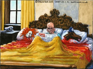 29.2.2012 Steve Bell on the latest evidence from the Leveson inquiry