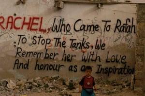 Tom Hurndall : Graffiti commemorating Rachel Corrie
