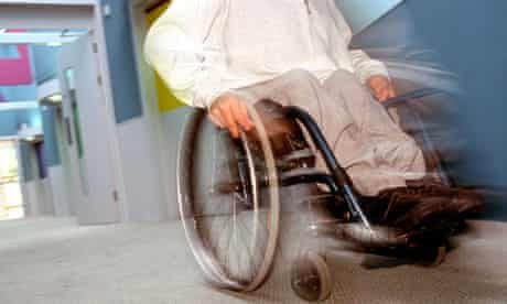 Disabled male in wheelchair