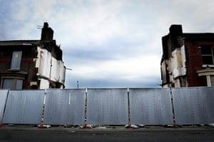 Ciara pathfinders gallery: Demolished homes in Liverpool