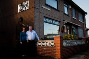 Ciara pathfinders gallery: Barbara and John Tafano by their home in Middlesbrough