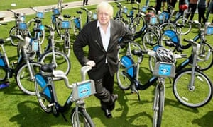 Boris Johnson and his 'Boris bikes'