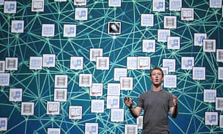 Mark Zuckerberg presenting at conference