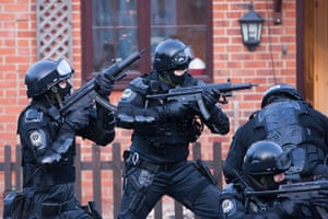 Guardian TV advert: The swat team prepare to enter 1 Tuffet Way and arrest the Third Little Pig