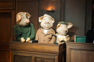 Guardian TV advert: The Three Little Pigs in court, awaiting their fate