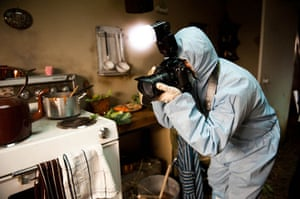 Guardian TV advert: A forensic investigator in the Third Little Pig's brick house