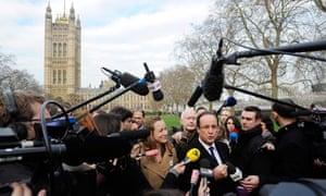 Francois Hollande at Westminster