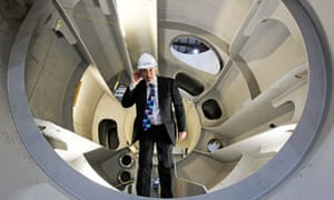 Chris Huhne visit to green energy projects