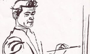 Len Deighton's sketch of Ted Dicks