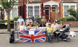 A royal wedding street party