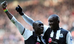 Papiss Cissé and Demba Ba