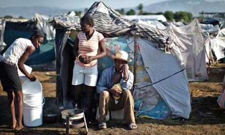 A makeshift camp in Port-au-Prince, Haiti