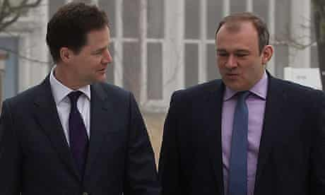 Nick Clegg and Ed Davey in Watford
