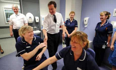 Cameron and Lansley at Royal Salford Hospital