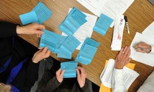 Nevada caucus counting votes