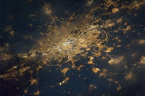 Satellite eye on earth: London as seen from space at night