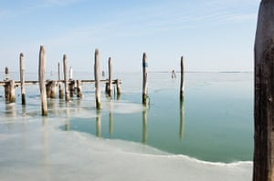 Frozen Venice: The North side of the frozen Venice Lagoon