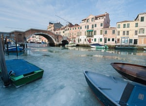 Frozen Venice: The Cannaregio canal