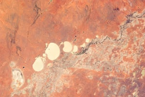 Satellite eye on earth: the Menindee Lake system along the Darling River.