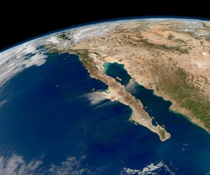 Satellite eye on earth: iew of the entire length of Baja California and the Pacific coast of Mexico