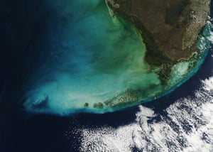 Satellite eye on earth: Heavy winds blew across the Florida Bay