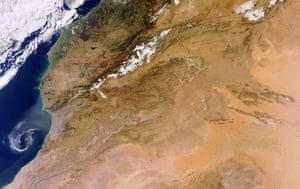 Satellite eye on earth: Atlas mountains