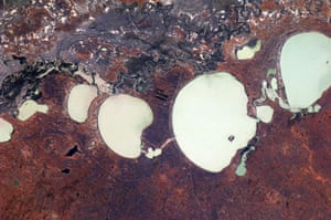 Satellite eye on earth: The Menindee Lake system along the Darling River seen from another angle.