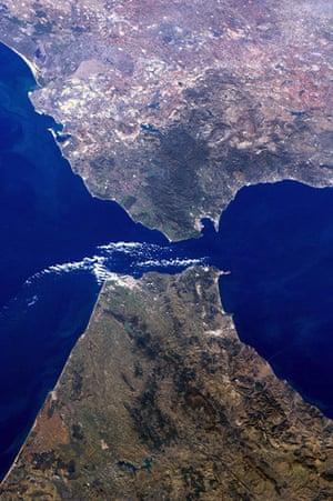 Satellite eye on earth: The Strait of Gibraltar, where Europe meets Africa