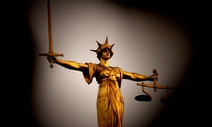 A framed view of the scales of justice