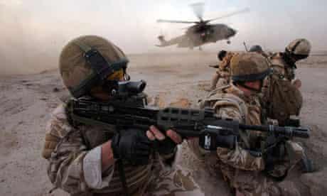 RAF helicoper in Iraq