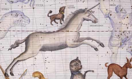Constellation of Monoceros the Unicorn with Canis Major and Minor by James Thornhill