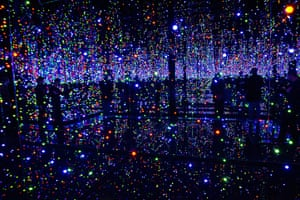 Yayoi Kusama: Light installation Infinity Mirrored Room Filled with Brilliance of Life
