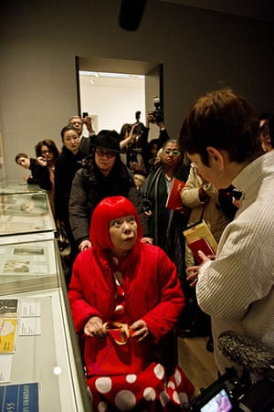 Yayoi Kusama: The 82 year old artist at the preview