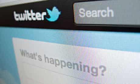 Detail of screenshot from Twitter internet website homepage