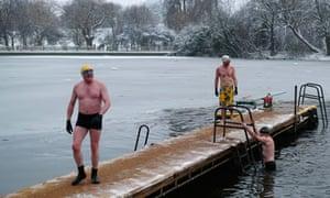 Swimmers in Hampstead Heath