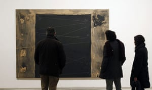 Antoni Tapies: Visitors look at Llinda at the Antoni Tapies Foundation in Barcelona