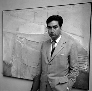 Antoni Tapies: Antonio Tapies presents his paintings at  the Art Biennale in Venice, 1958