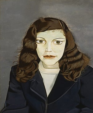 Lucian Freud at NPG: Lucian Freud at National Portrait Gallery - Girl in a Dark Jacket
