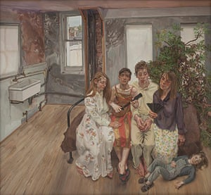 Lucian Freud at NPG: Lucian Freud at National Portrait Gallery - Large Interior, W11