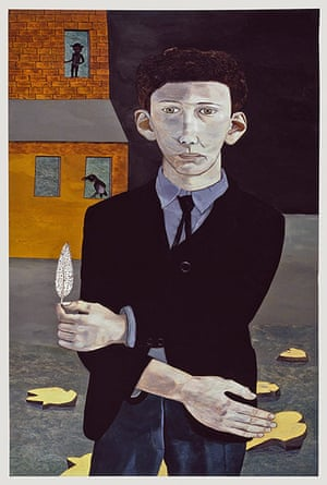 Lucian Freud at NPG: Lucian Freud at National Portrait Gallery - Man with a Feather