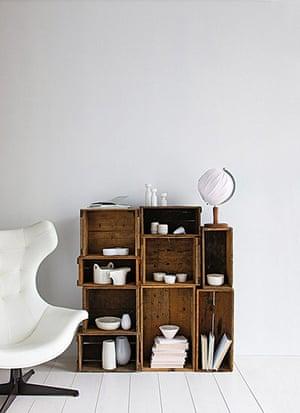 DIY style ideas: Crates shelves