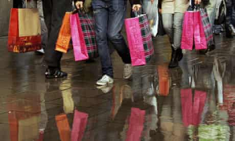 Shoppers with shopping bags