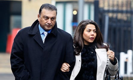 Ali Dizaei arrives with his wife at Southwark crown court